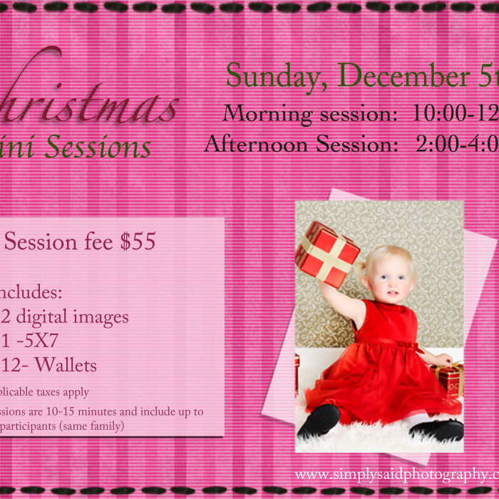 {Christmas Mini Sessions}