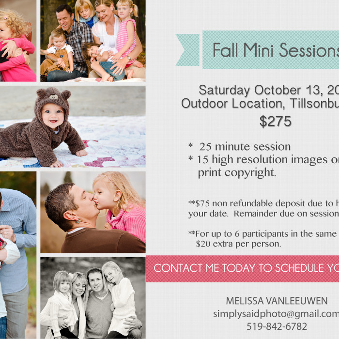 Fall Mini Sessions 2012
